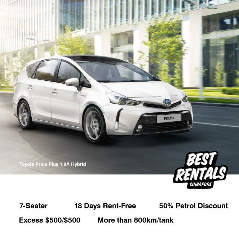 HOT Deal for PHV Drivers- For Grab use! Prius Plus Hybrid 2019!