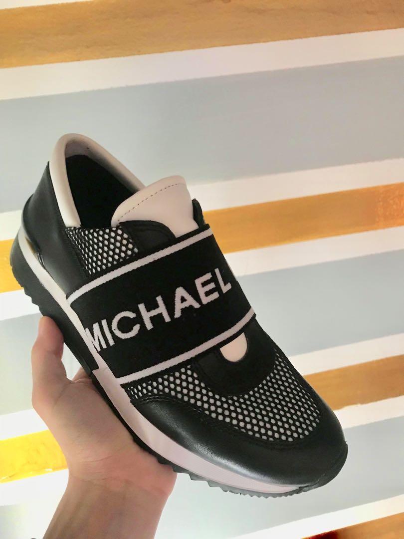 Michael Kors Mesh \u0026 Logo Tape Trainer