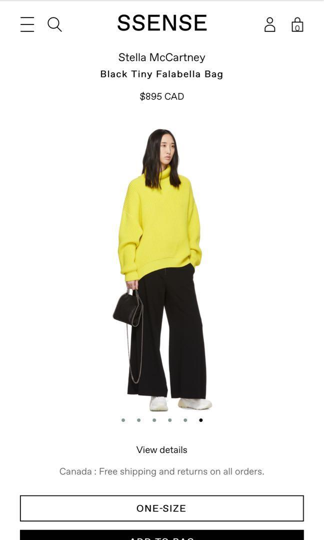 Stella McCartney Black Tiny Falabella Bag Crossbody Handbag
