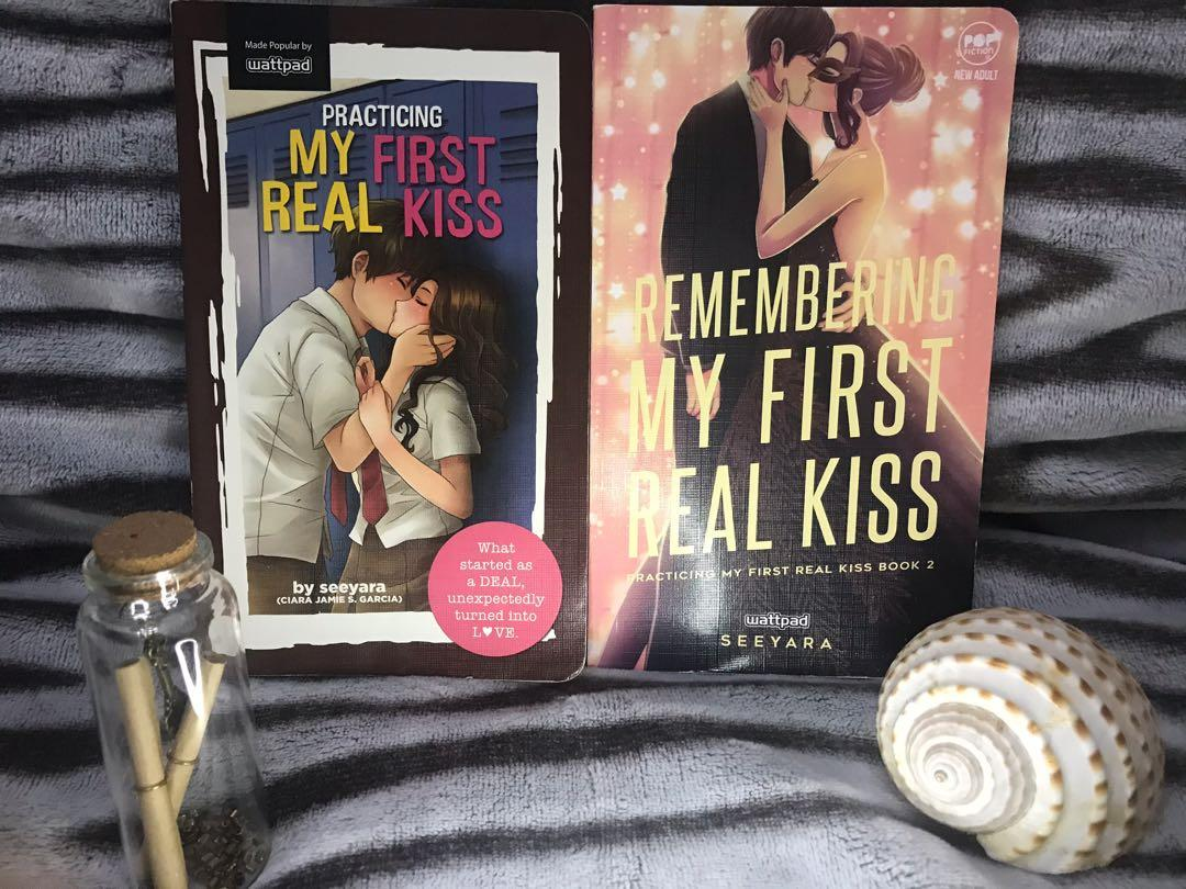 Wattpad books ~ Practicing my first real kiss book 1&2 ( bundle )