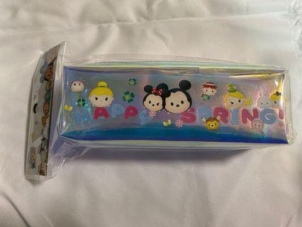 迪士尼彩虹膜方型筆袋