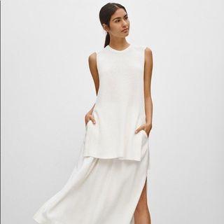 Aritzia Wilfred Palimer Sleeveless sweater Birch/cream/white sz xs