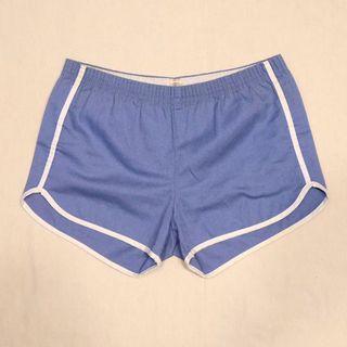 🇺🇸70s美國製水藍色拳擊手運動短褲 男女皆可Vintage 歐美帶回古著