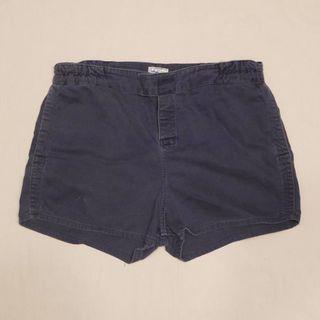 🇬🇧80s英國製L.L.Bean海軍藍膝上短褲 Outdoor 男女皆可Vintage 歐美帶回古著