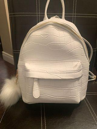 New white small backpack