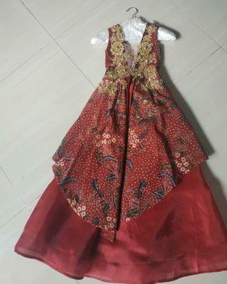 long dress batik gown