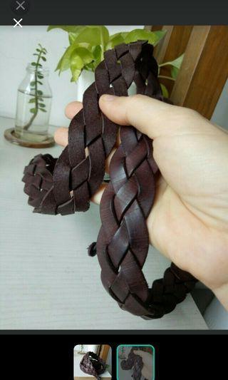 純手工編織個性正牛皮編織皮帶