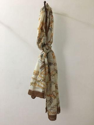 黃  優雅 高貴 長絲巾