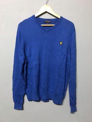 藍色針織衫