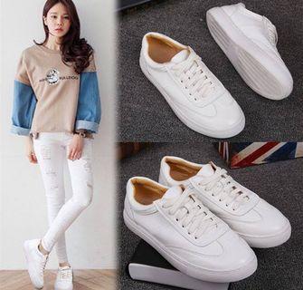韓版真皮小白鞋