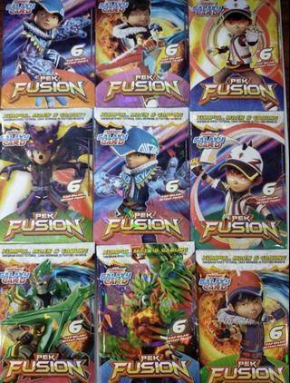 Boboiboy Galaxy Card Fusion Set