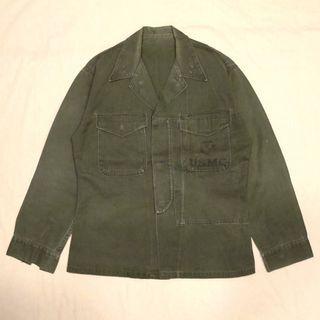🇺🇸1950's USMC美國海軍陸戰隊復古軍裝襯衫 韓戰 P53 男女皆可Vintage 歐美帶回古著老品