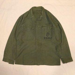 🇺🇸1950's USMC美國海軍陸戰隊復古軍裝襯衫 韓戰 P56 男女皆可Vintage 歐美帶回古著老品