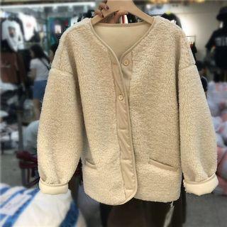 東大門 韓國 熊寶寶羊羔毛外套 泰迪熊  乳白色