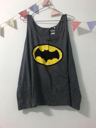 Uniqlo 蝙蝠俠logo黑色寬鬆背心