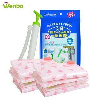 Vacum Bag Plastik Storage Press Vacum Free Pompa 3