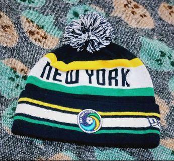 只有1頂🎶正版🎌JP 日本帶回 NEW ERA 綠色 NEW YORK 針織 球球 反摺 毛帽 毛線帽 針織帽 街頭 復古 潮流