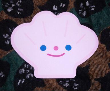 只有3個🎌日本帶回 日系 貝殼造型 粉色 滑鼠墊 可愛 童趣 扇貝
