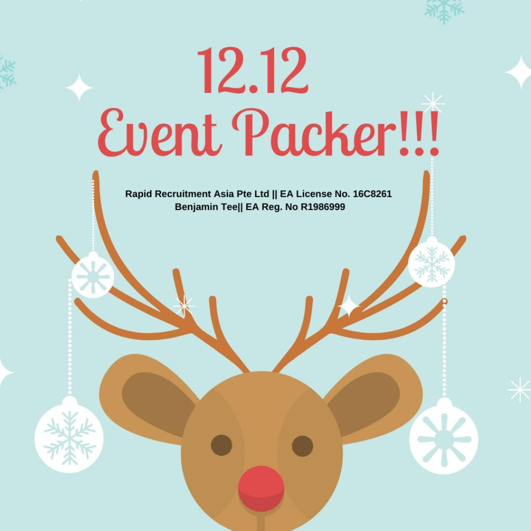 ⭐️💥🔥 12.12 Event Packers @ Jurong East x 60 ⭐️💥🔥