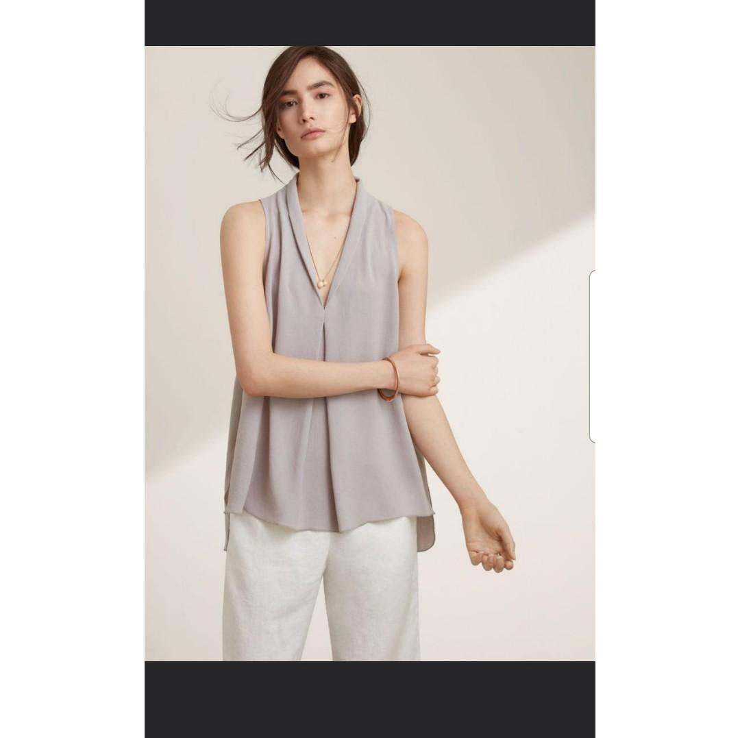 Aritzia Wilfred Nuit Sleeveless Blouse in Ashen small s