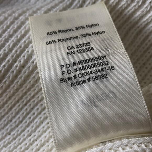 Aritzia Wilfred Palimer Sleeveless sweater Birch/cream/white sz xs