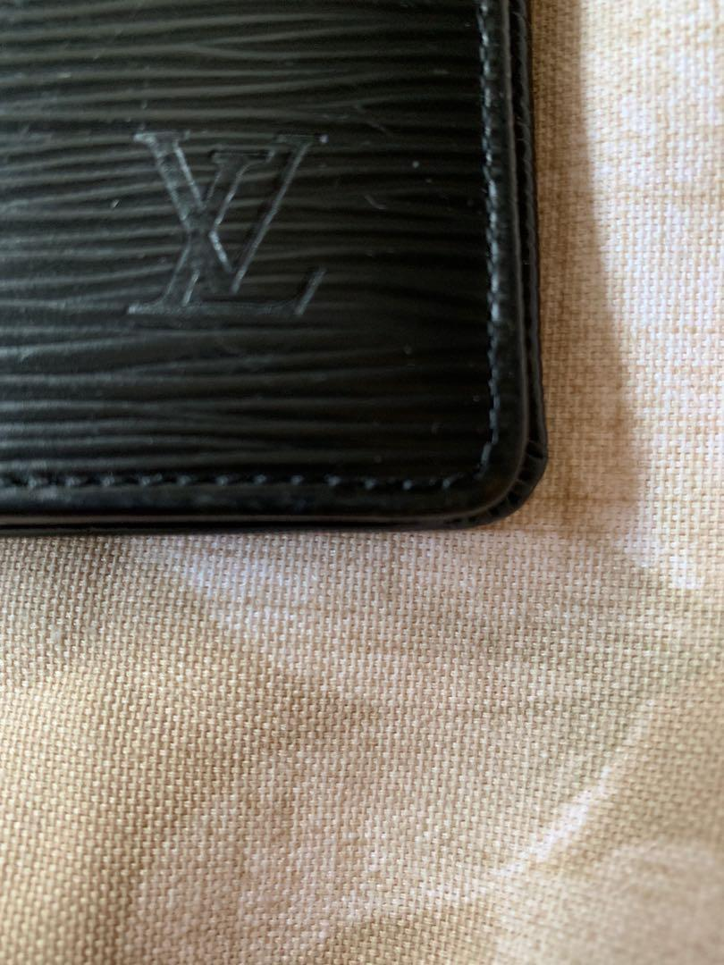 Authentic Louis Vuitton Brazza Black Epi Bifold Wallet
