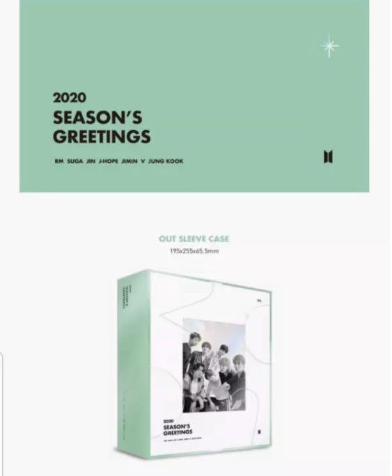 BTS 2020 SEASON'S GREETINGS -Sealed Full Package + Pre-Order Mouse Pad + Store Freebies + AU Tracking