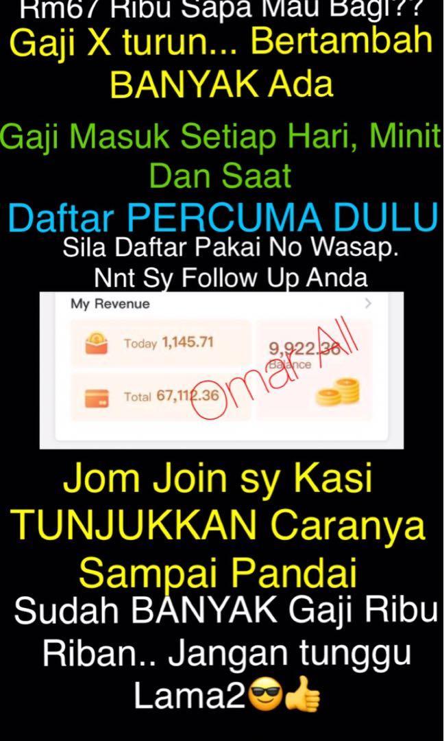 Buat Duit Online Tenyeh Hp Saja! Gaji Ribu2 1 Hari!! Hanya Promote Website Saja