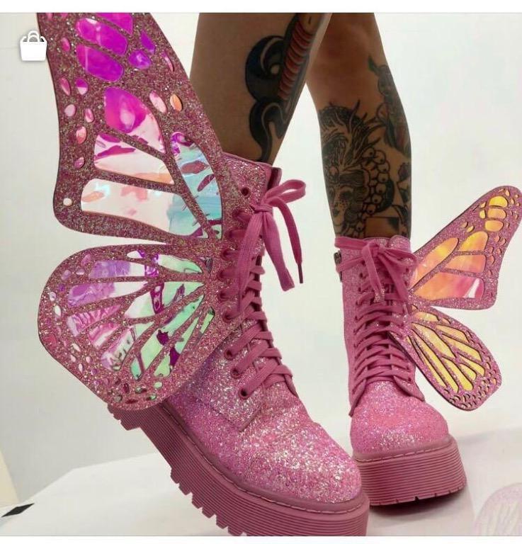 Bubblegum Metamorphic Boots - Vegan Leather (LIMITED EDITION)