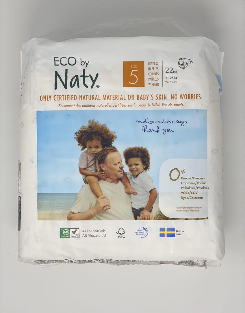 ECO by Naty Size 5 Diapers 3x22 Count - Natural Diapers