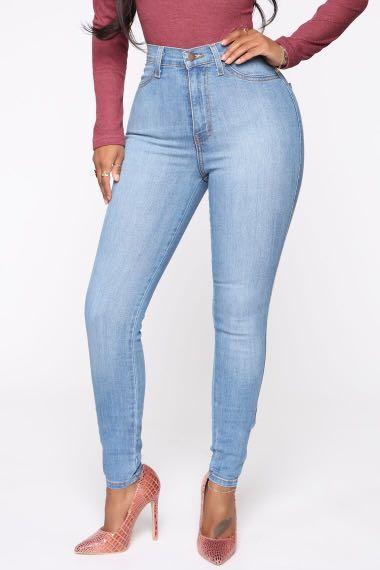 Fashion Nova Classic High Waist Skinny Jean - Light Blue Wash