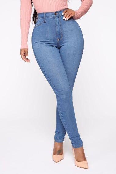 Fashion Nova Classic High Waist Skinny Jean - Medium Blue Wash