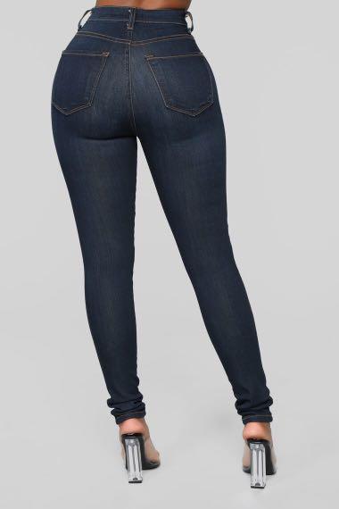 Fashion Nova Classic High Waist Skinny Jeans - Dark Denim