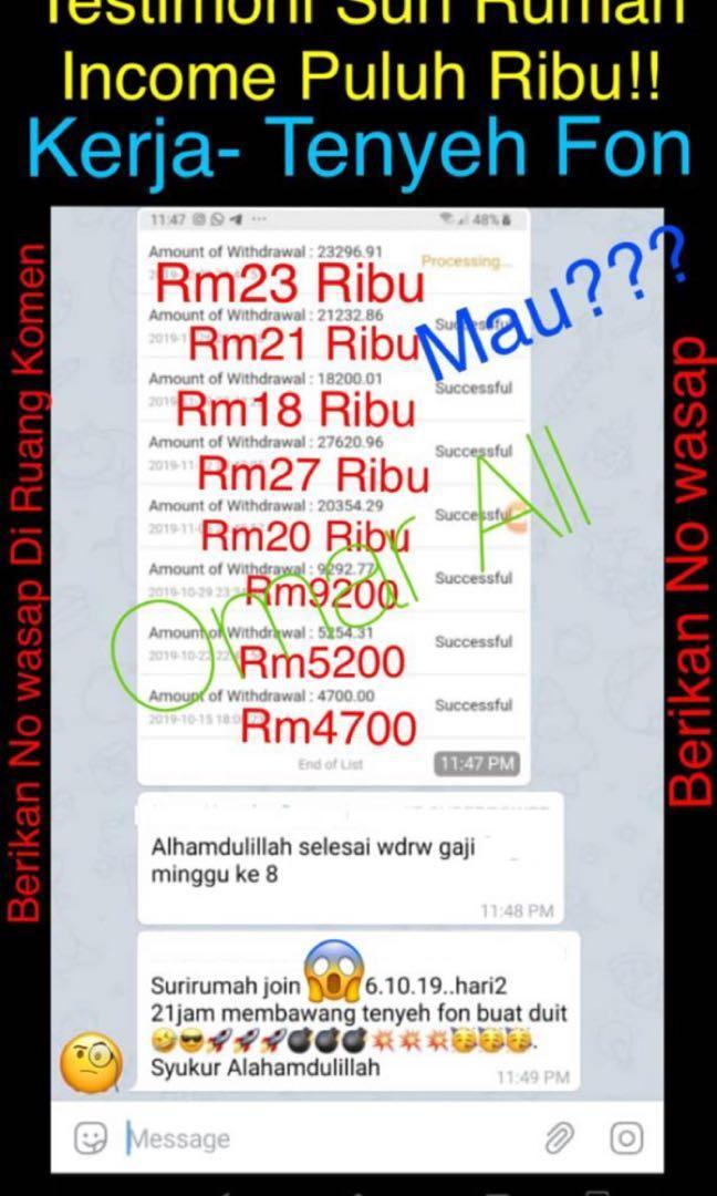 Gaji Ribu2 Hari2!! Buat Duit Online . Kerja Mudah Hanya Share Website Di mana2 laman sosial
