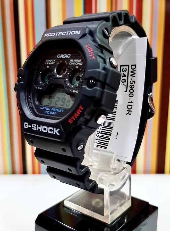 NEW🌟GSHOCK UNISEX DIVER SPORTS WATCH : 100% Original Authentic CASIO G-SHOCK : DW-5900-1DR / DW-5900-1 / DW5900-1 / DW59001DR / DW-5900TH-1