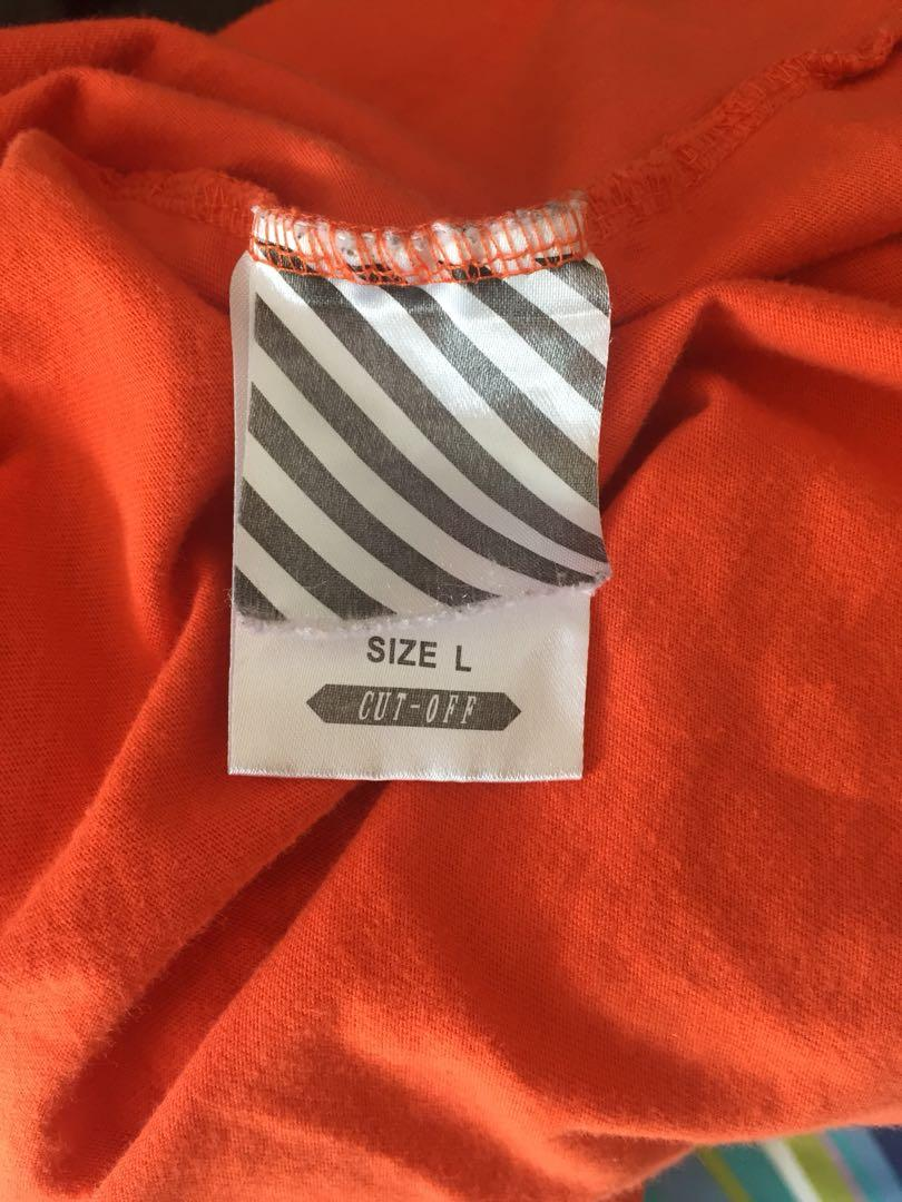 OFF-WHITE AUTHENTIC 'EVERY LIVING CREATIVE DIES ALONE' SIZE L