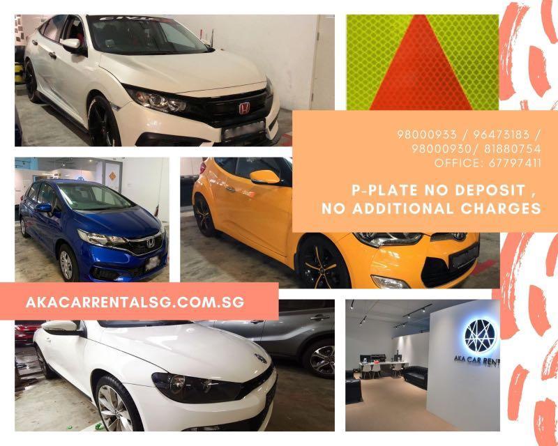 P-PLATE CAR RENTAL . Weekend / weekday package