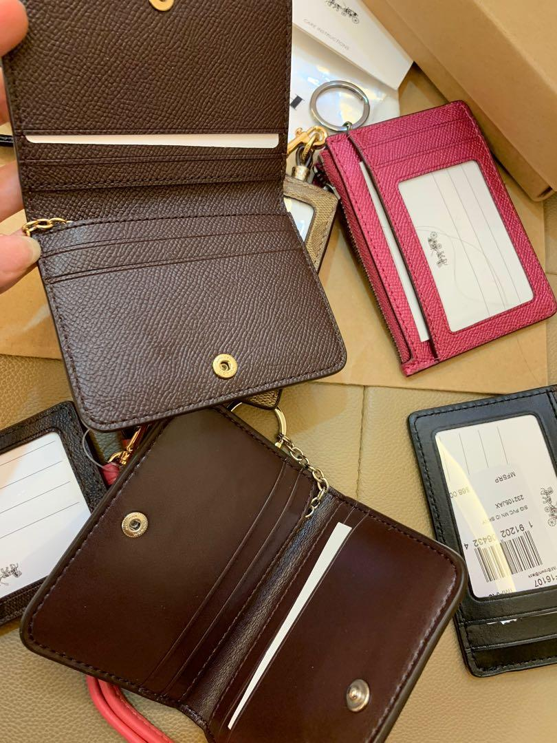 (Ready Stock) Authentic Chirstmas gift coach and Tory Burch Black Friday card holder lanyard and key chain Tory Burch wallet