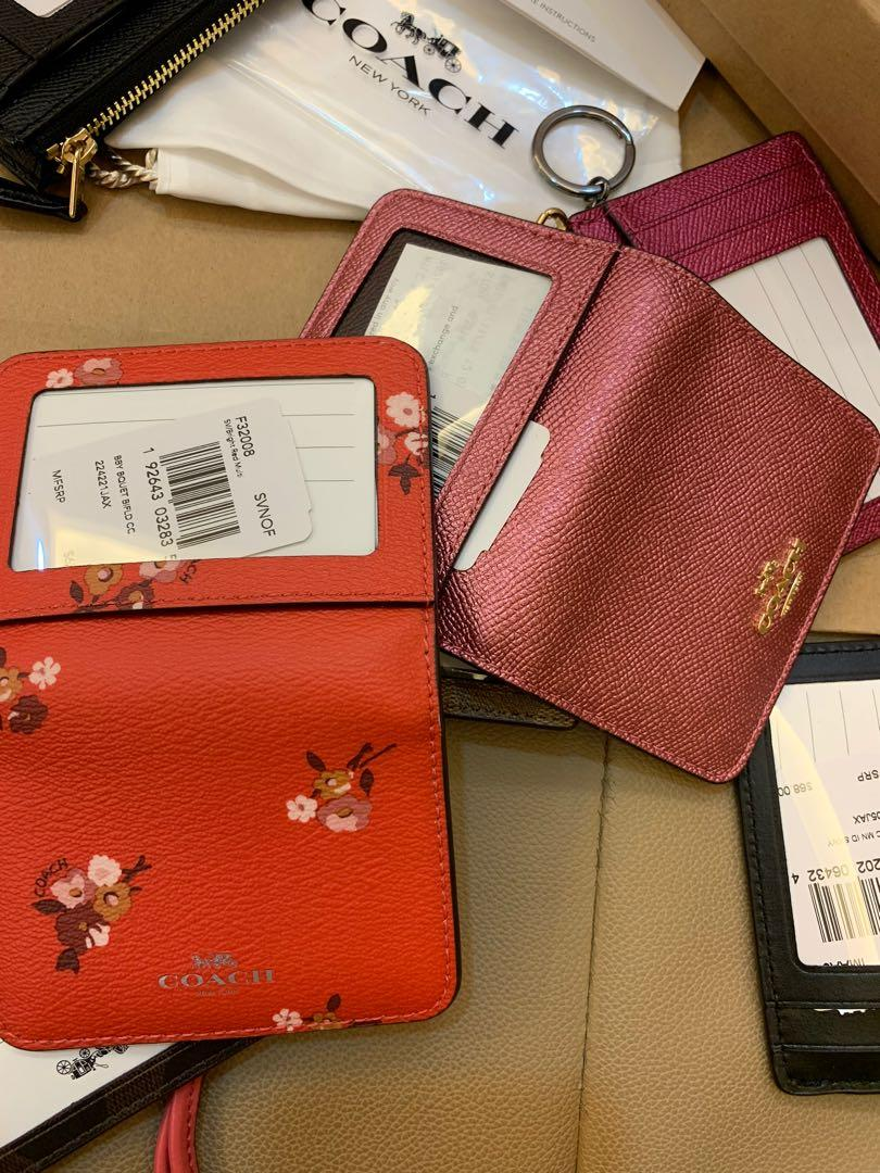 (Ready Stock) Authentic Chirstmas gift coach and Tory Burch Black Friday card holder lanyard and key chain Tory Burch wallet limited collection