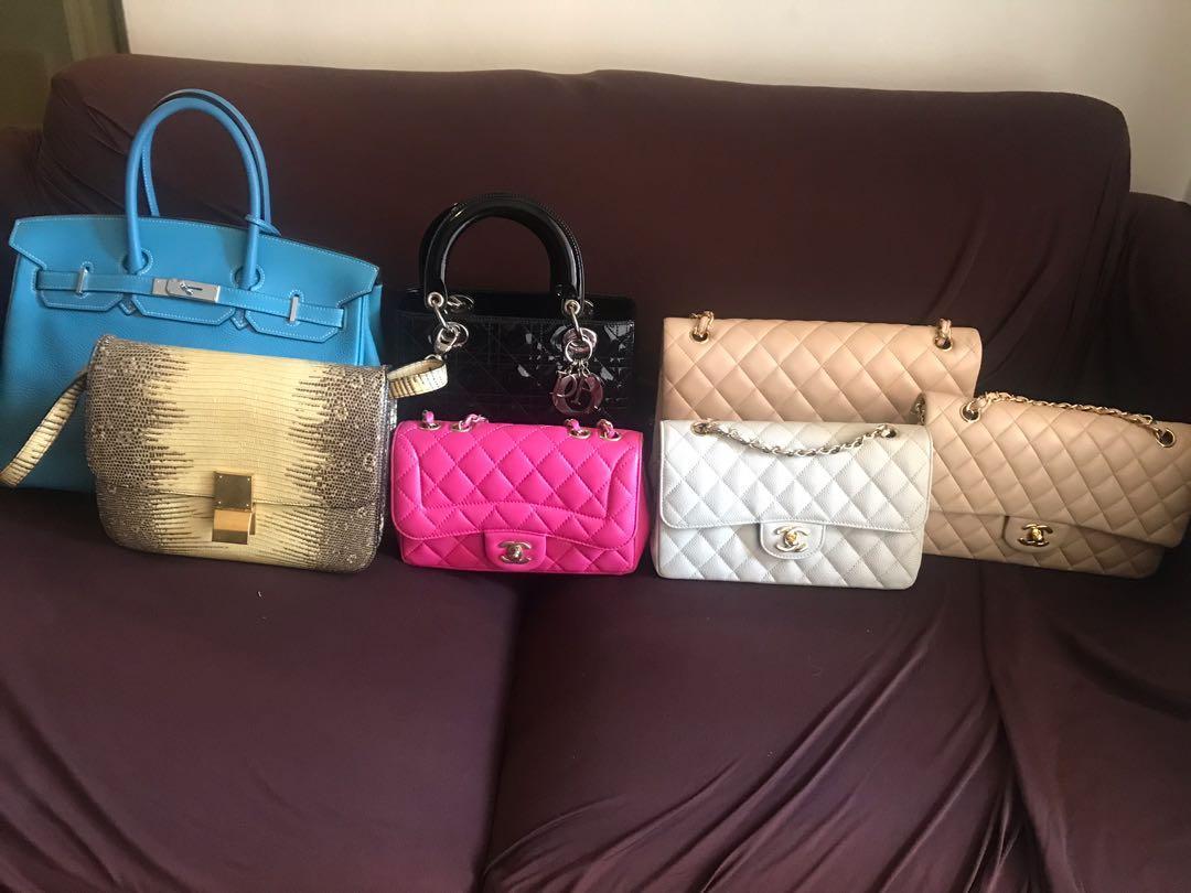 Various designer bags ( Chanel , hermes, Dior, Celine ) authentic
