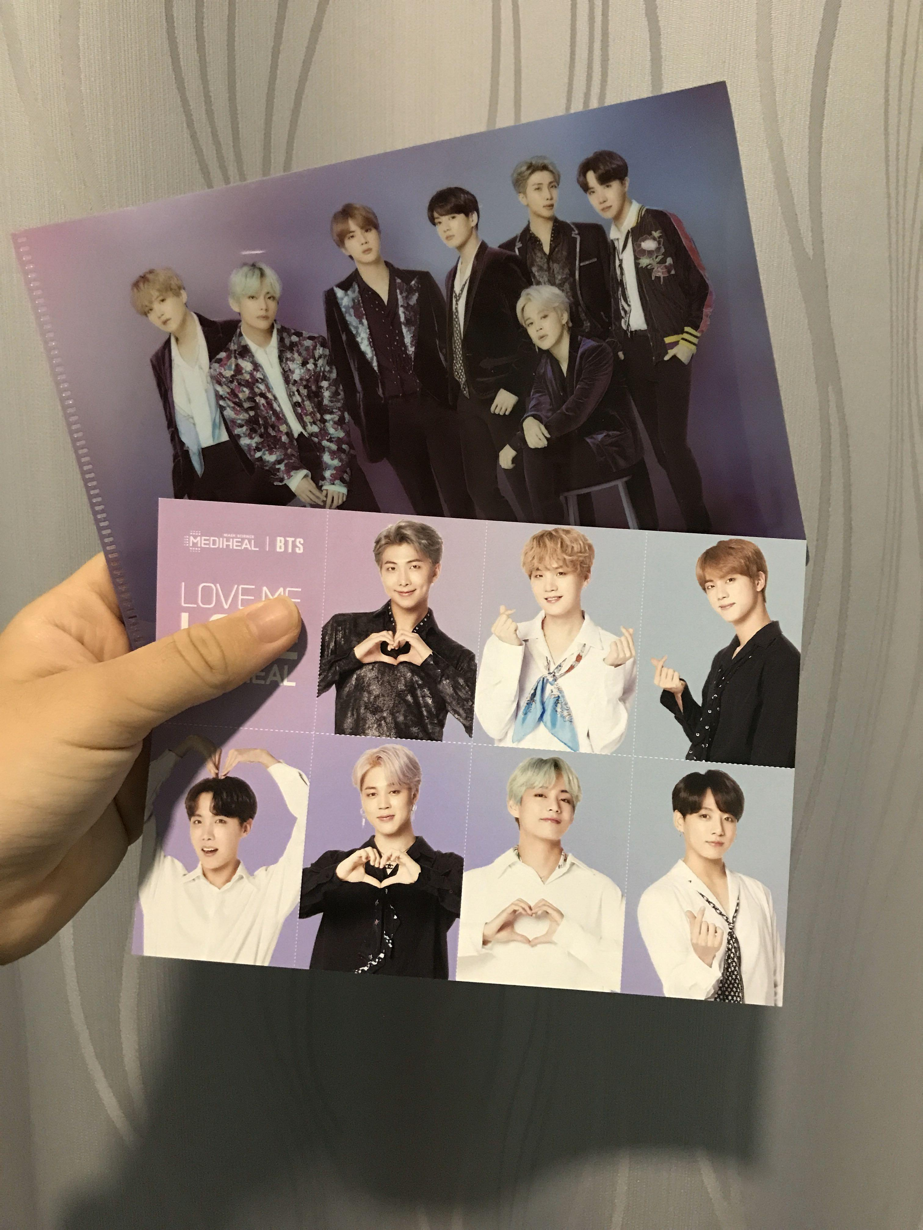 [WTS] BTS LIMITED Mediheal BTS Edition Special Gift Small File + Postcard