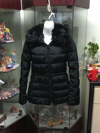 Zara黑色羽絨外套#出清2019