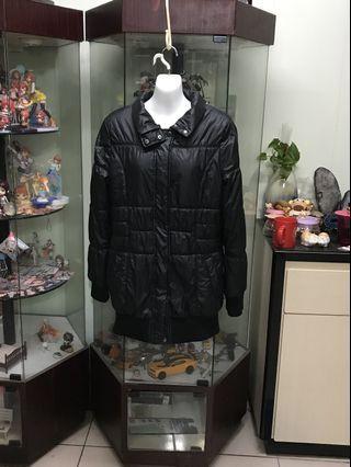 黑色鋪棉外套#出清2019