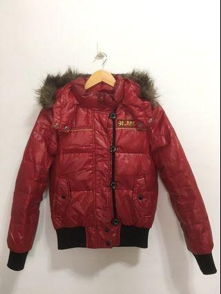BAPS ROYAL JEANS短版型超暖羽絨外套