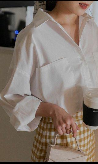 全新 Mercci 22 簡約挺版白襯衫