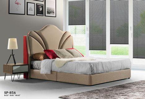 On Carou, Queen Upholstered Platform Bed Frame With Legs Jubilee Mattress