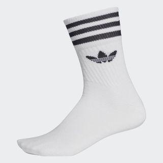 adidas Originals 中筒襪 白 男/女 3 雙入 uk8.5-11