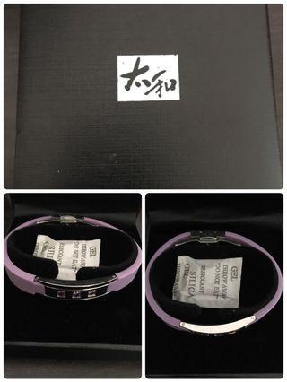 太和工房 負離子+遠紅外線手環 紫(聖誕甜甜價)
