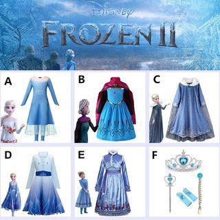 BN Disney Frozen II Movie Dress & Accessories For Kids