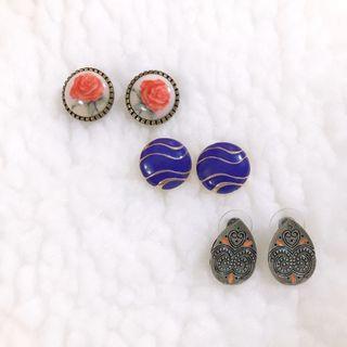 耳環們(一副$50,三副$120)